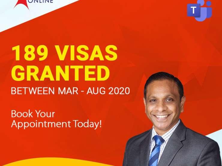 189 Visas Granted Between March 2020- August 2020