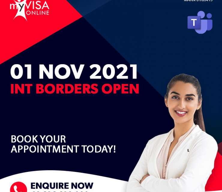 International Borders Open From 01 Nov 2021